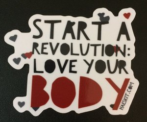 Love your body sticker