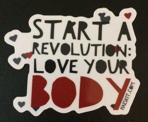 Love your body sticker